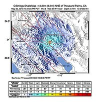 Image of current CGS ShakeMap